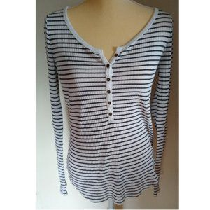 Abercrombie and Fitch Striped Henley M